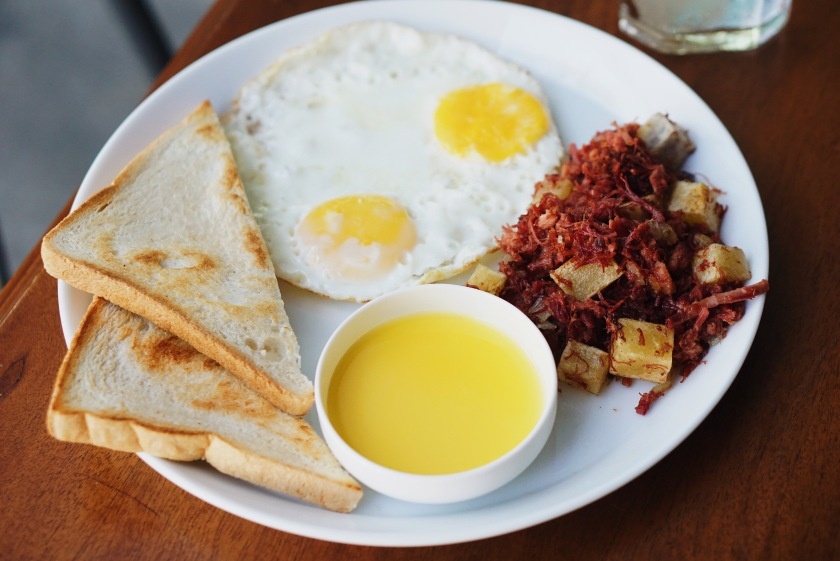 Corned Beef Hash Platter Php 320