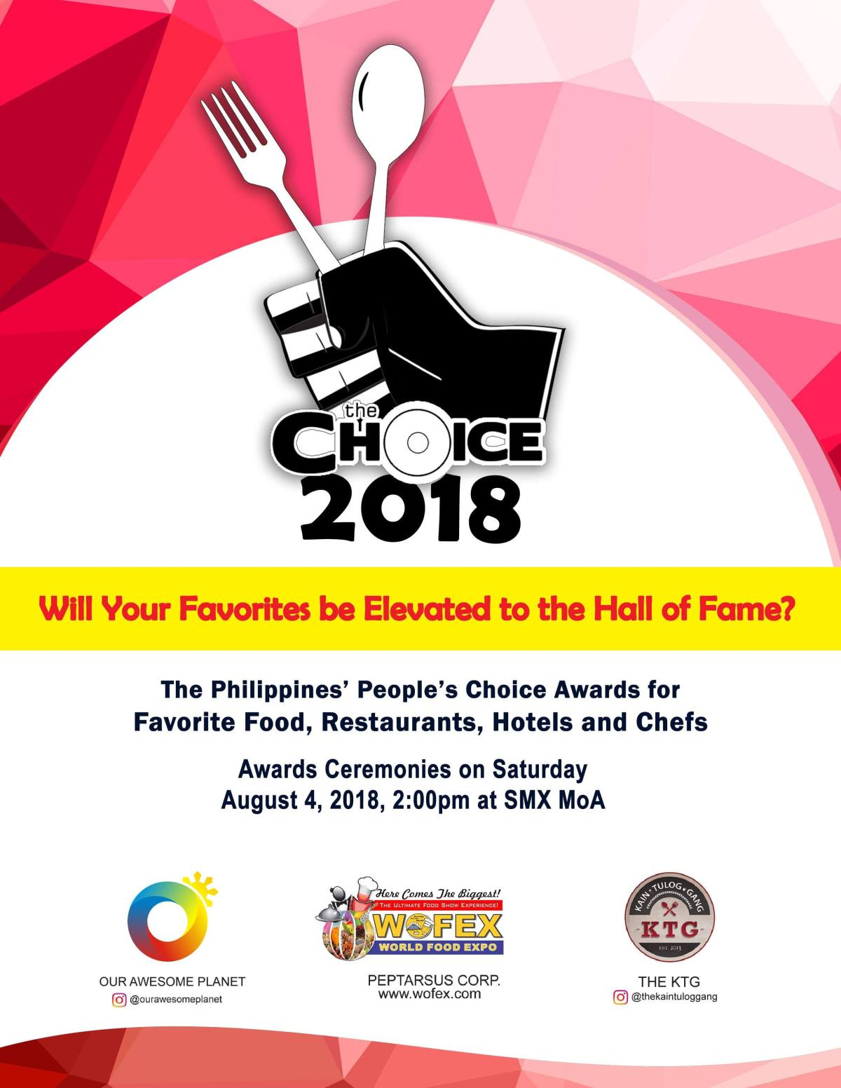 Vote for your favorites now at The Choice 2018